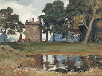 Landscape with ruined castle b