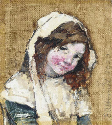 Study of a young girl