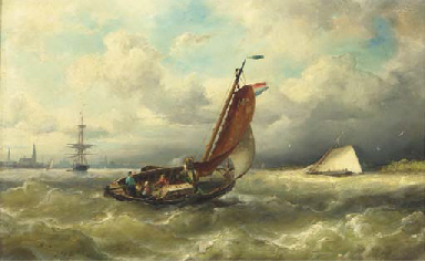 A barge from Marken on the IJ,