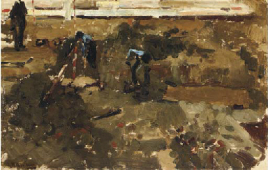 Heiwerk: figures at work on a