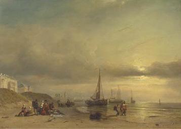 Sunset over the beach of Schev
