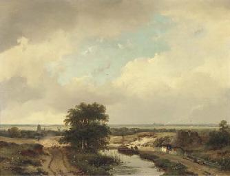 An extensive summer landscape,