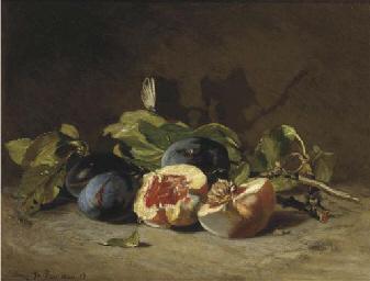 Prunes and a peach