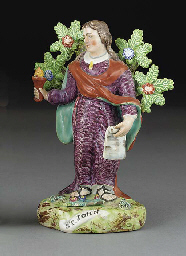 A Walton pearlware figure of S