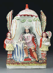 A Staffordshire pottery figure