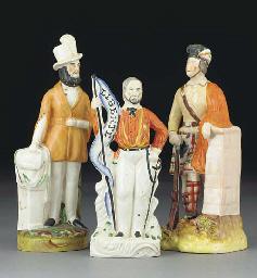 A Staffordshire pottery figure