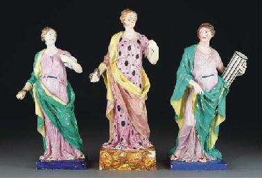 Three English allegorical figu