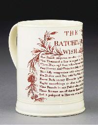 An English creamware cylindric
