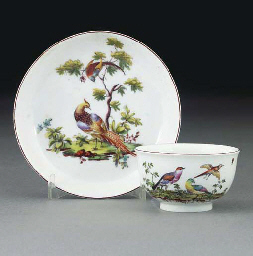 A Chelsea teabowl and saucer