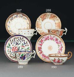 A Swansea teacup and saucer