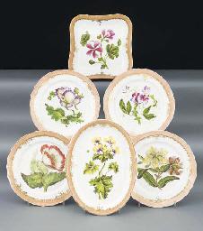 An English porcelain part dess