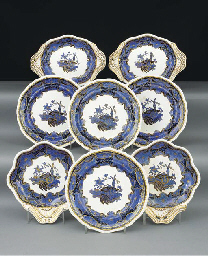 A Spode pottery part dessert-s