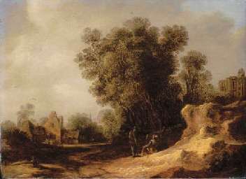 A landscape with peasants rest