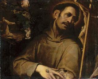 Saint Francis adoring the Cros