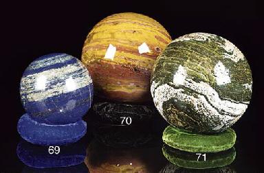A rare sea jasper sphere,
