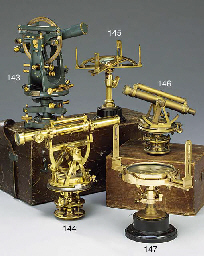 A polished brass graphometer,