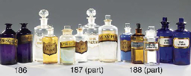 A miscellaneous collection of Victorian water-white pharmacy shop rounds