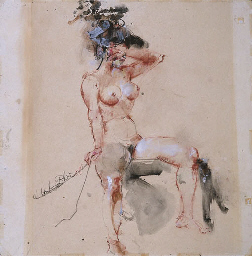 Portrait of a nude figure