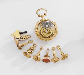 Anon. An 18K gold miniature wa