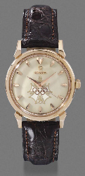 Omega. An 18K pink gold self-w