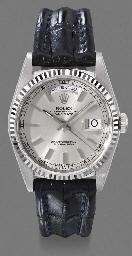 Rolex. An 18K white gold self-