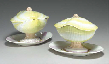 TWO WEDGWOOD 'WHITE WARE' CREA