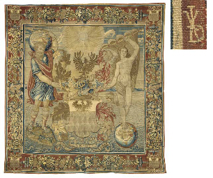 A BRUSSELS ARMORIAL TAPESTRY
