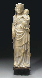 A WHITE MARBLE FIGURE OF THE V