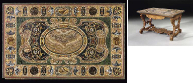 A ROMAN INLAID MARBLE TABLE TO