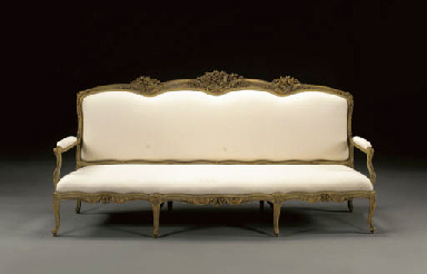 A LATE LOUIS XV WHITE-PAINTED