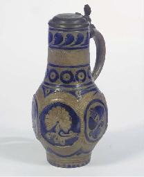 A Westerwald stoneware baluste