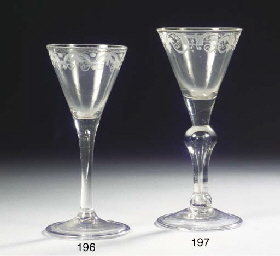 A Dutch-engraved wine glass