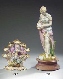 (2)  A large Paris porcelain m
