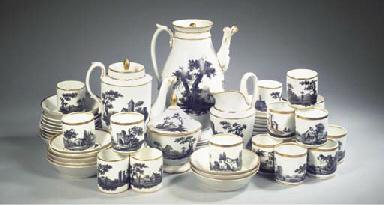 (50) A Paris porcelain landsca