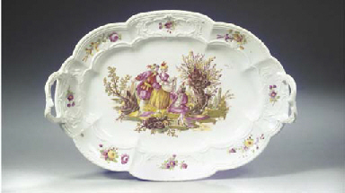 A Weesp porcelain two-handled