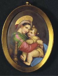 A Firenze porcelain oval medal