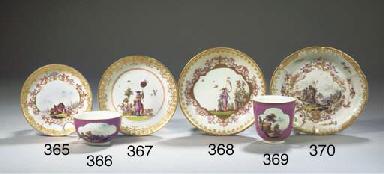 A Meissen porcelain gilt chino