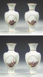 A pair of Meissen porcelain Ba