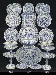 A pair of Meissen porcelain Zw