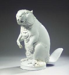 A large Meissen white porcelai