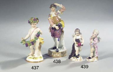 A Meissen porcelain lace figur