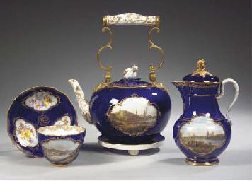 (7)   Four Meissen porcelain d