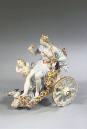 A Meissen porcelain Venus and
