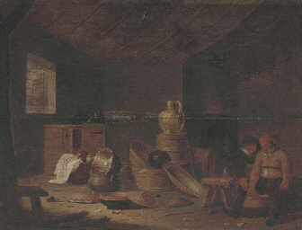 Boors in a kitchen