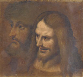 Two studies of the head of Chr