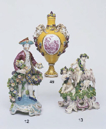 A BOW PORCELAIN FIGURAL GROUP