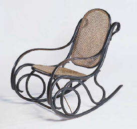 A THONET TYPE ROCKING CHAIR