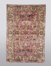 A SILK AND METAL-THREAD TABRIZ