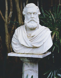A VICTORIAN MARBLE BUST OF A B