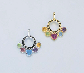 TWO 18K WHITE OR YELLOW GOLD A